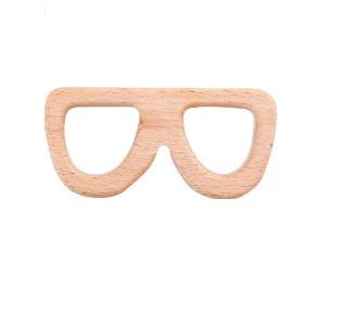 Houten bijtring bril