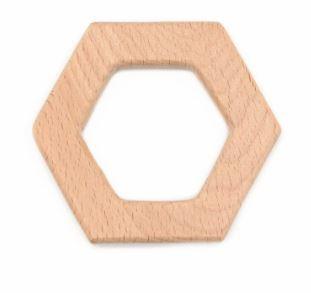 Houten bijtring hexagon