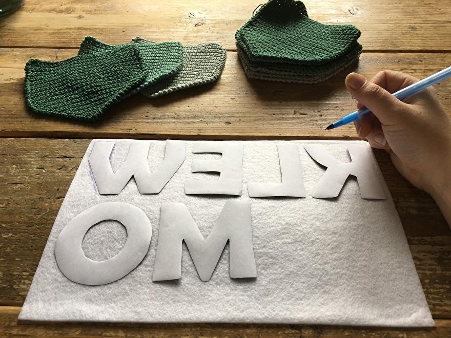 Vilten letters maken - Gratis sjabloon van Opmaatgehaakt.nl