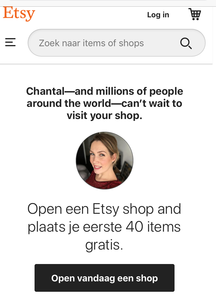 Etsy shop openen gratis listings