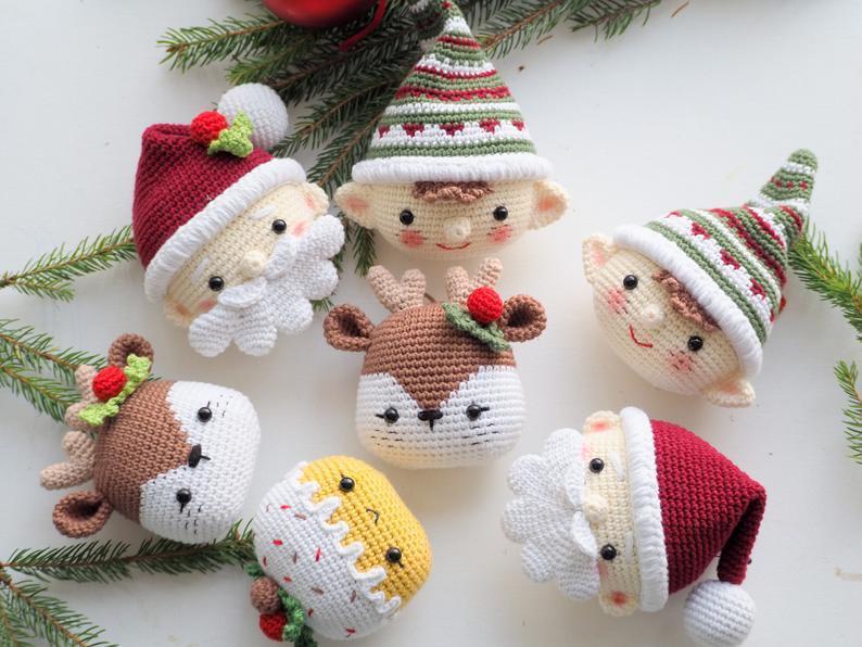 Haakpatroon kerstballen kerstman
