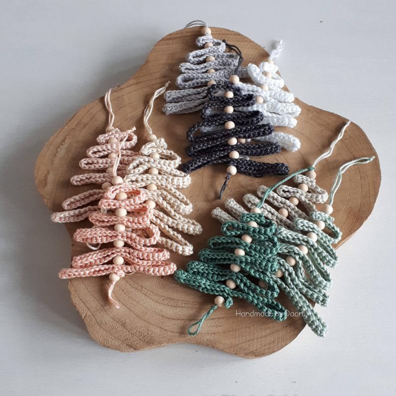 Haakpatroon kerstboompjes