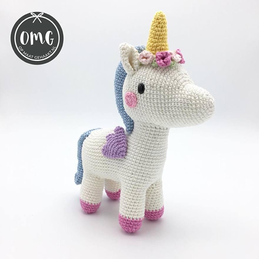 Gehaakte unicorn Pica pau en OMG