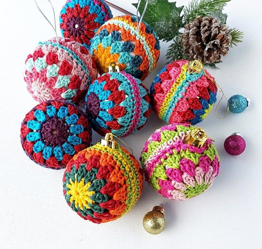 Gratis haakpatroon kerstballen haken