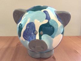 Beschilderde spaarpot varken