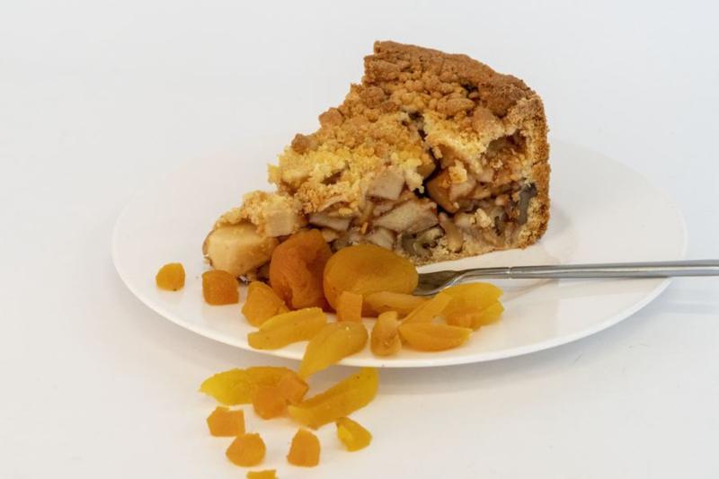 Appeltaart met abrikoos