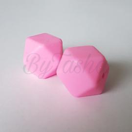 Hexagon 17mm - Roze
