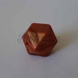 Hexagon 17mm - Parelmoer Brons