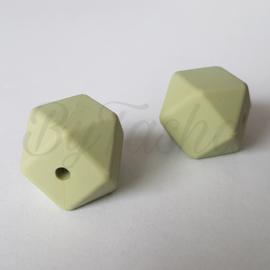 Hexagon 17mm - Vergrijsd Groen