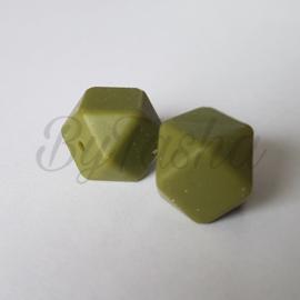 Hexagon 17mm - Olijfgroen