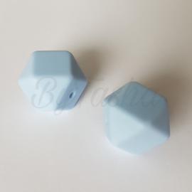 Hexagon 17mm - Poederblauw