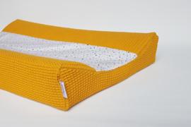 Aankleedkussenhoes Dots Oker/Wafel Okergeel