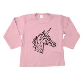 Shirt - Geometrisch Unicorn Hoofd