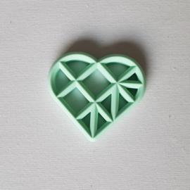 Geometrisch Hart - Mint