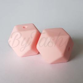 Hexagon 17mm - Lichtroze