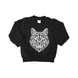 Sweater - Geometrische Wolf