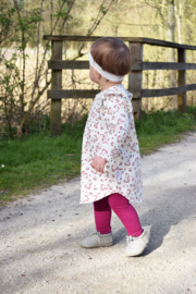 Set Ruffle Dress Bloemetjes Kardinaal & Legging Kardinaal