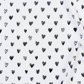 Hartjes Wit/Zwart
