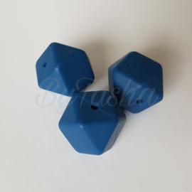 Hexagon 17mm - Jeansblauw