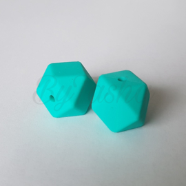 Hexagon 17mm - Turquoise