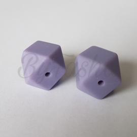 Hexagon 17mm - Vergrijsd Lila