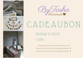Cadeaubon - € 40,00