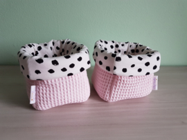 Commodemandje Wafel Babyroze/ Tricot Painted Dots