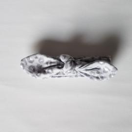 Knoophaarband 6mnd-2jaar Panter Grijs