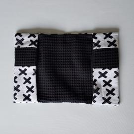 CB Hoesje Tricot Criss Cross Wit/Zwart