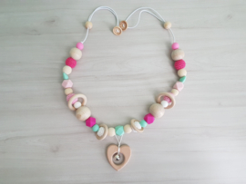 Boxspanner Pink Heart met mint