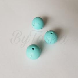 15mm - Zachtturquoise Spikkels