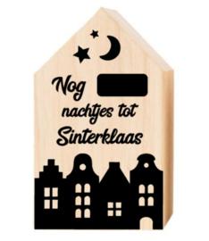Houten huisje Aftelkalender Sinterklaas