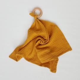 Knuffeldoek Golden Studs Okergeel