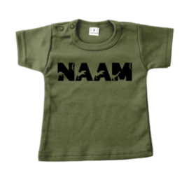 Shirt - Naam in Dino letters