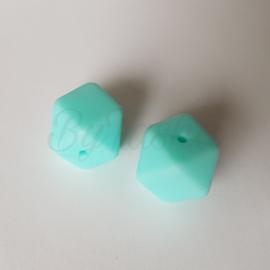 Hexagon 17mm - Lichtblauw/Mint