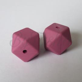 Hexagon 17mm - Donker Oudroze