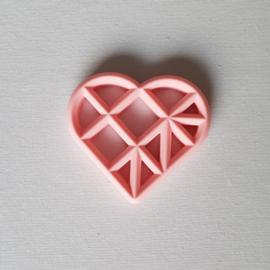 Geometrisch Hart - Lichtroze
