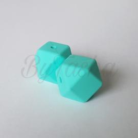 Hexagon 17mm - Turquoise Licht
