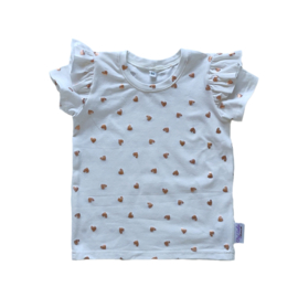 Ruffle T-Shirt Foil Hartjes