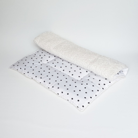 Boxkleed Dots Zwart/Wit/Katoenteddy Ecru