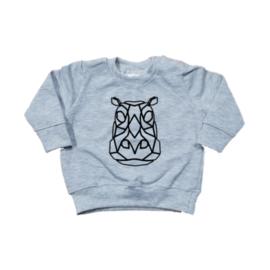 Sweater - Geometrisch  Nijlpaard