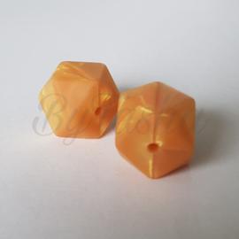 Hexagon 17mm - Parelmoer Goud