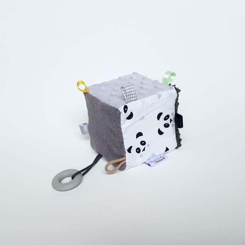 Kubus Panda Mint/Grijs/Wit/Mint