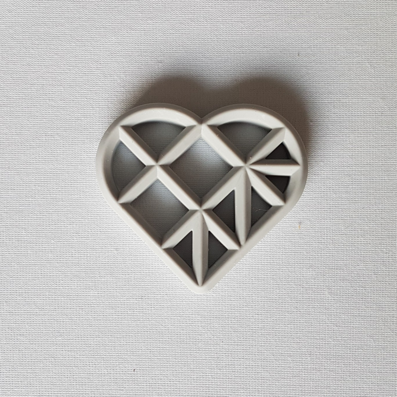 Geometrisch Hart - Lichtgrijs
