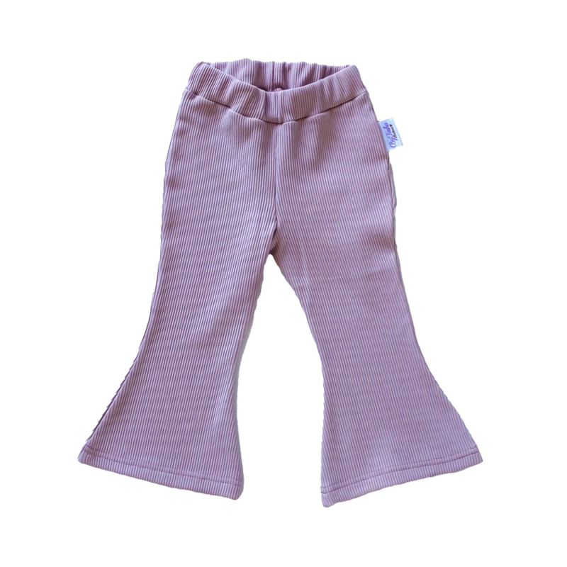 Flared Pants Rib Oudroze