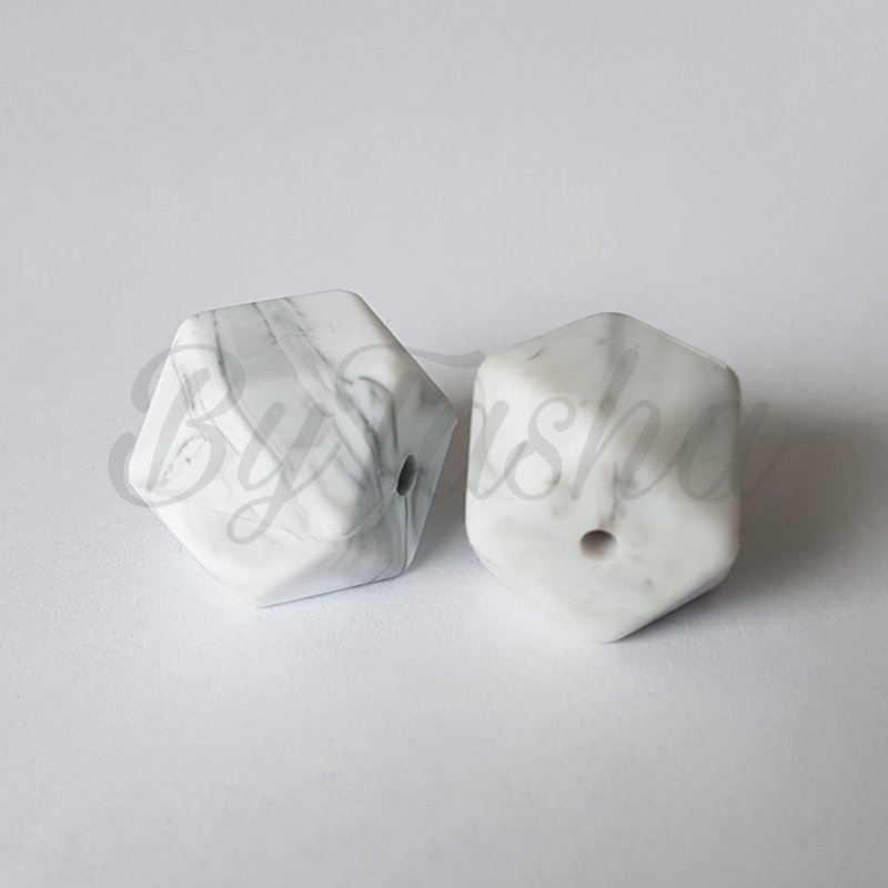 Hexagon 17mm - Marmer Wit