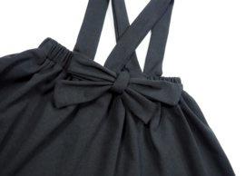Zwart suspender Rokje