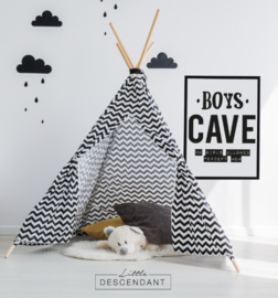 Poster kinderkamer -  Boys cave no girls allowed