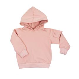 Hoodie met klepzakje - Cloudy Pink