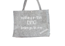 Vilten tas 'Nothing in this bag belongs to me'